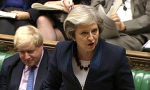 Theresa May during PMQs on 11 January 2017