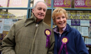 Neil and Christine Hamilton campaigning for Ukip in Eastleigh.