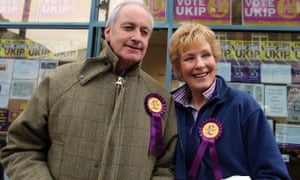 Neil and Christine Hamilton campaigning for Ukip.