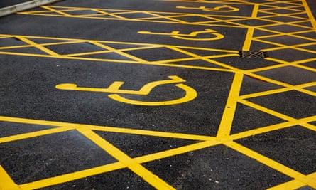Disabled parking bays