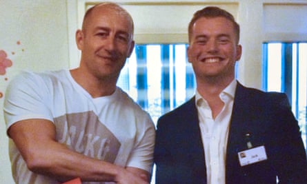 Jack with Steven Gallant, the convicted murderer whose bravery during the attack was rewarded with a reduced sentence.