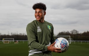 Onel Hernández, a Cuba-born midfielder, checks out the scene at the Norwich City training ground.