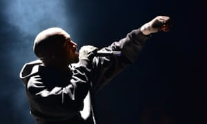 Kanye West performs at in Madison Square Park as part of his Season 3 show for his Yeezy fashion line.