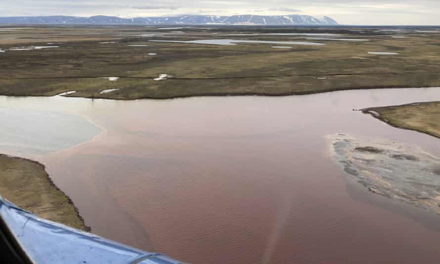 Two rivers were turned crimson near the Arctic city of Norilsk by the leak.