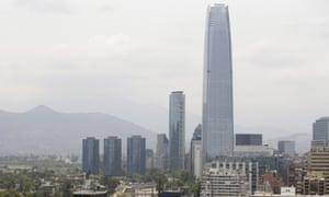 Smoke in Santiago, Chile