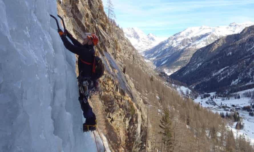Ice climbing, Switzerland