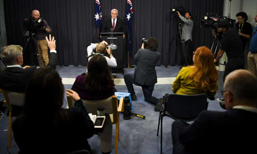 Scott Morrison speaks during a press conference on Tuesday 23 March 2021