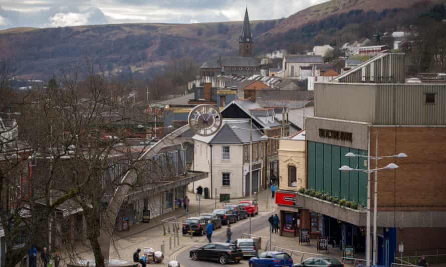 Ebbw Vale in Blaenau Gwent, Wales.