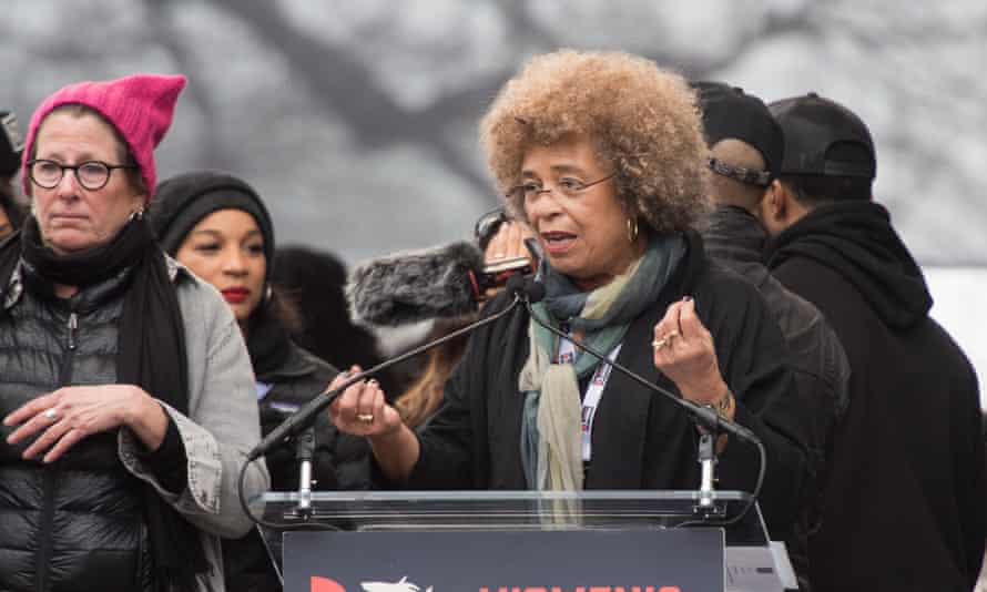 Speaking at the Women's March in Washington in 2017.
