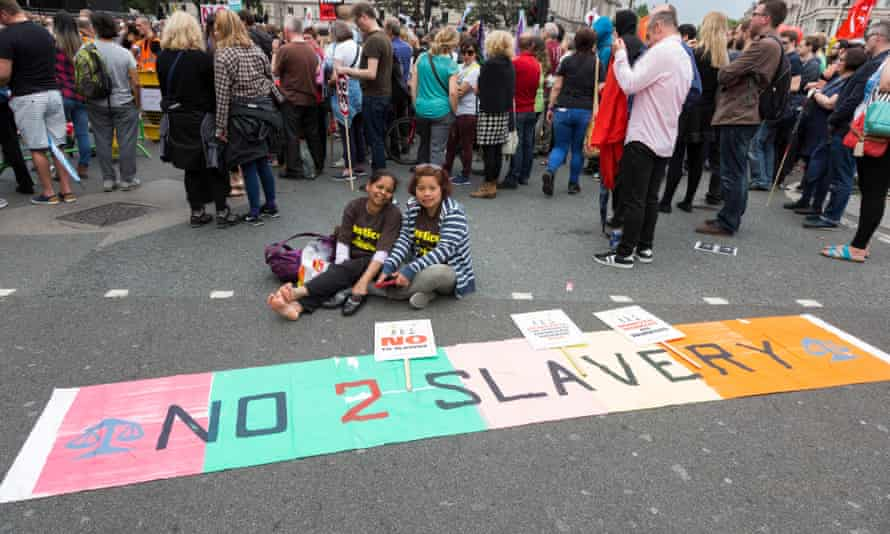 A protest against slavery in London