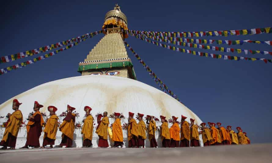 The Boudhanath stupa during its three-day purification ceremony, earlier this week.