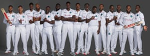 The West Indies test squad.