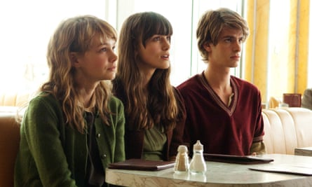 Carey Mulligan, Keira Knightley and Andrew Garfield in the 2010 film adaptation of Kazuo Ishiguro's Never Let Me Go, in which clones are produced to provide spare organs for their originals.