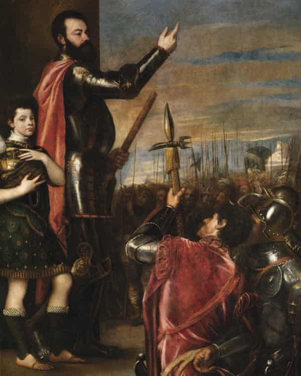 Titian's The Allocution of Alfonso d'Avalos to His Troops, 1540–41.