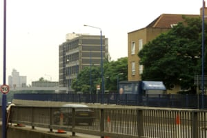 "An east London estate viewed from the Blackwall Tunnel approach road, and the setting of Wiley's grime classic Bow E3 – a track which pays homage to Roman Road and his former school, in which the ""godfather of grime"", now has a ""Paving the Way"" stone set in cement to celebrate his 2016 Mobo award."