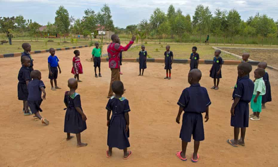 Outdoor lessons for Okere City's schoolchildren