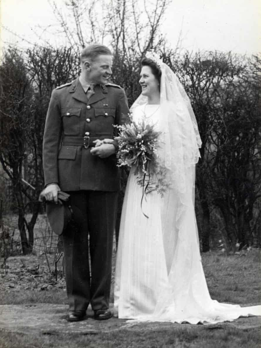 David and Mary on their wedding day in 1944.