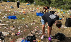Mess left behind following a rave at Daisy Nook Park in Manchester on Saturday night.