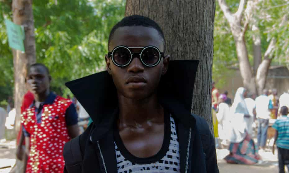 A young man dresses up during Eid-al-Adha celebrations in September.