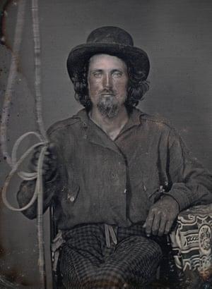 Unknown photographer. Portrait of an unidentified mule driver c.1850. Daguerreotype