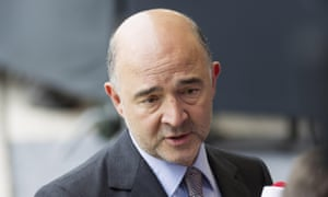 European Commissioner for Economic and Financial Affairs, Taxation and Customs Pierre Moscovici speaks to the press as he arrives for a eurozone finance ministers meeting at the European Union Council headquarters in Luxembourg on June 18, 2015. Greece must make the next move towards reaching a debt deal with its EU-IMF creditors but there is little chance of an agreement at a meeting of eurozone finance ministers on June 18, Eurogroup chief Jeroen Dijsselbloem. AFP PHOTO / THIERRY MONASSETHIERRY MONASSE/AFP/Getty Images