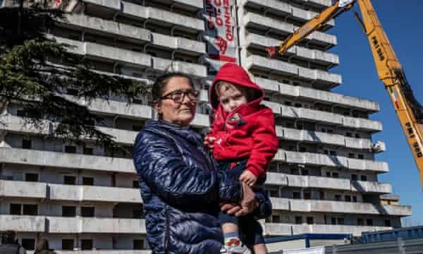 Anna De Martino and her grandchild.
