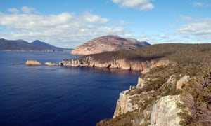 The view from the lighthouse on Freycinet Peninsula on the east coast of Tasmania