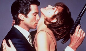 Pierce Brosnan and Izabella Scorupco in Goldeneye.