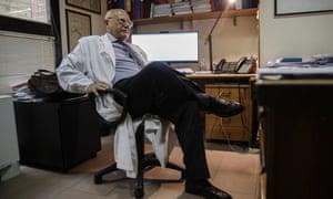 Massimo Galli at Milan's Luigi Sacco hospital