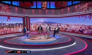 The ITV Rugby World Cup studio relied heavily on stereotypes of Japan.