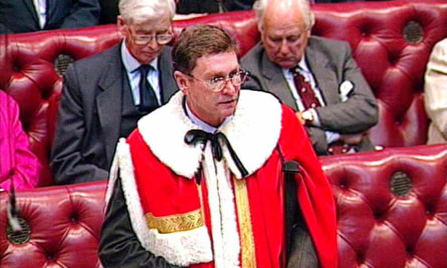 Michael Ashcroft taking House of Lords oath