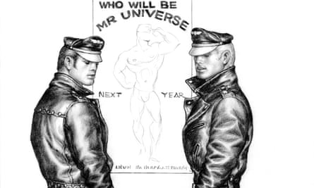A Tom of Finland illustration. An exhibition will open in Tokyo after two years of rejections from gallery owners.