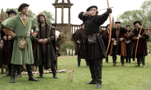 Mark Rylance as Thomas Cromwell (right) and Damian Lewis as Henry VIII in the TV adaptation of Wolf Hall.