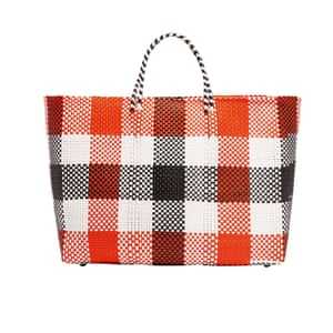 Checked tote bag by Truss from net a porter