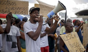 Costa Rica African migrants stranded protest