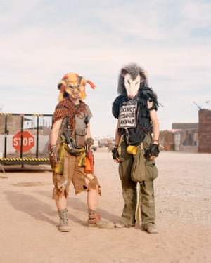 Wasteland Weekend 2018Thunder Cat (left) and Possum (right) outside the City Gates.