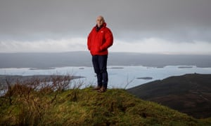 Keith Wood, the former Ireland and Lions player, stands above Lough Derg in County Tipperary, near his home town of Killaloe.