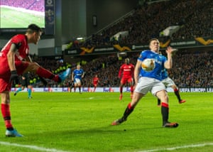 The ball hits the arm of Edmundson to give away a penalty after a VAR review.