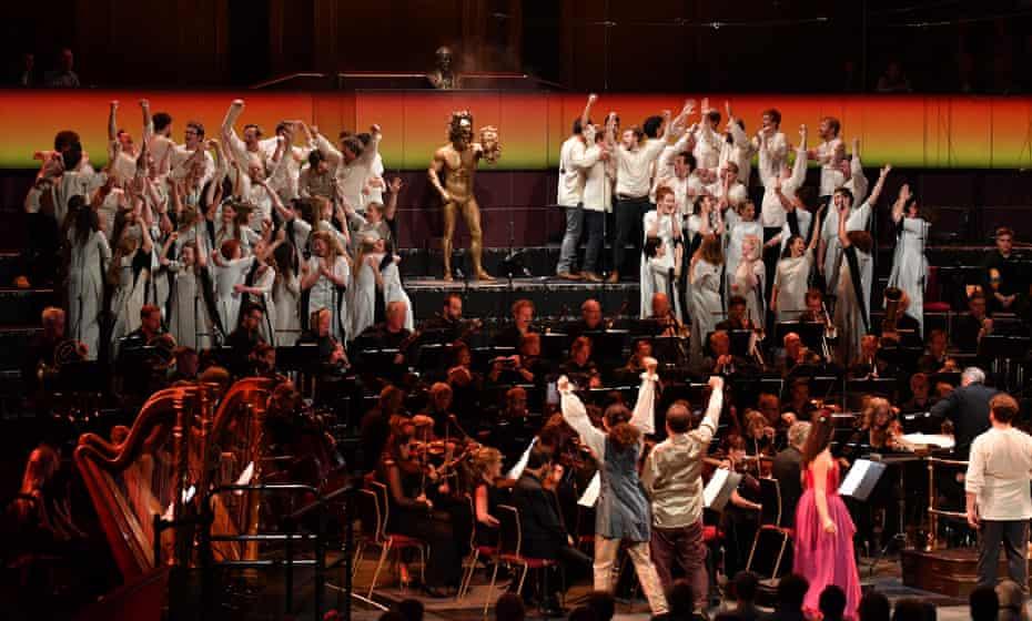 Exuberance … the semi-staged Benvenuto Cellini.