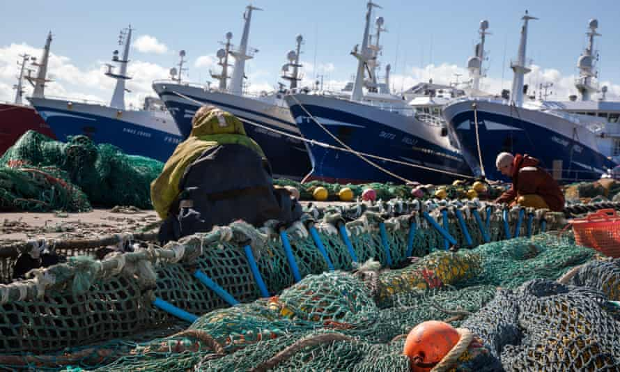 Scottish pelagic ships at Fraserburgh harbour, Scotland.