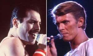 Freddie Mercury and David Bowie