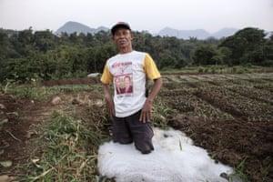Farmer near Citarum River