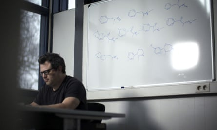 'It's a lot less dangerous than it seems' … Dr Zee working on new chemical compounds.
