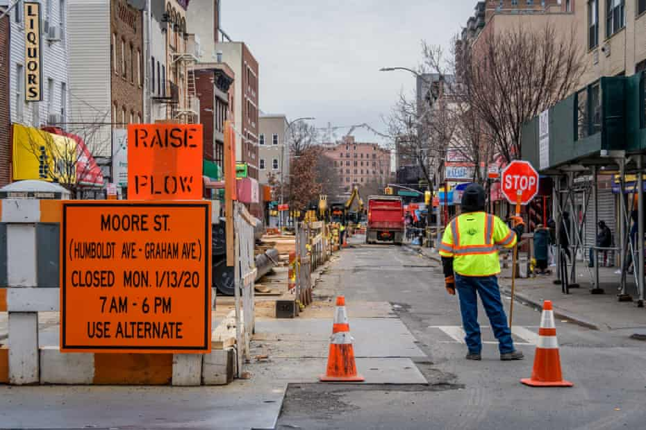 Street closures in Bushwick during National Grid's North Brooklyn Pipeline phase four construction in Brooklyn.
