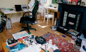 Ian Rankin's office with some of his hi-fi.