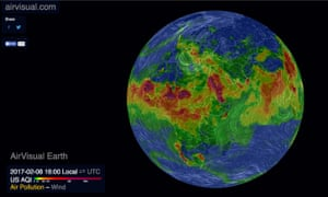 Air Visual's map of global air pollution