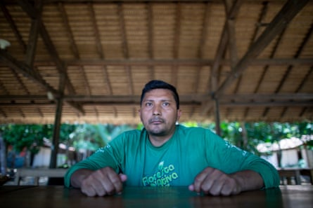 Moacir Imbiriba, a Kumaruara indigenous man, works for the PSA project supporting sustainable development.