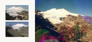 Funch used vintage postcards as a model for his images of Washington's Mount Baker to capture the effects of glacial recession. 'Photography is an interesting tool since it is so dependent on the reality in front of us, while at the same time it can be used to describe something so general that everyone can relate to it,' he says.