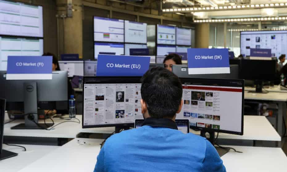 Facebook's elections 'war room' in Dublin, Ireland