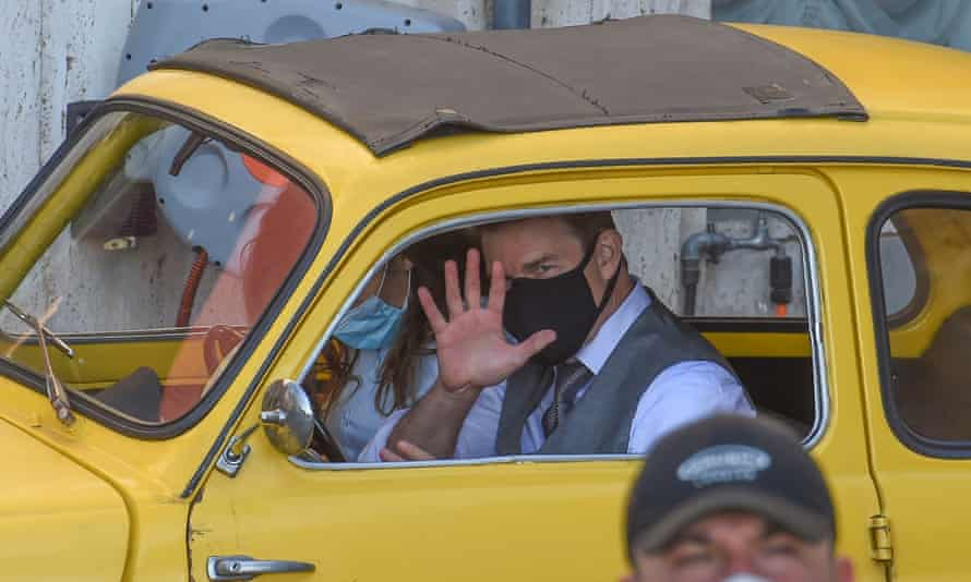 Tom Cruise and Hayley Atwell film Mission: Impossible 7 in Rome last month.